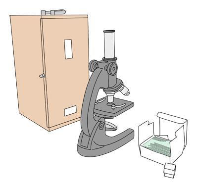 顕微鏡 顕微鏡。写真からの単純トレースです。 →広告・出版物用ミニイラスト I... 水際工房 